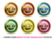 Colorful Brand of the year ''Excellence Quality'' button set