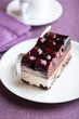 Piece of Sour Cherry Cake
