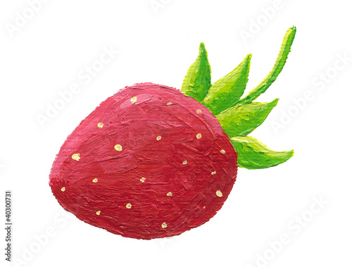Strawberry with petal