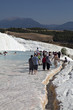 People on Travertines of Pamukkale