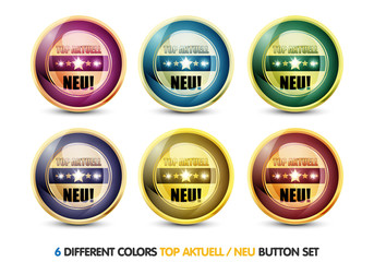 Colorful Top Aktuell 'Neu' Button Set
