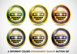 Colorful Engagement Qualite button Set