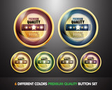 Colorful 100% Guarantee 'Premium Quality' Button Set
