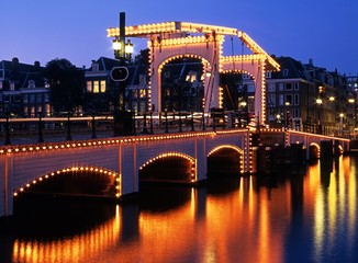 The Skinny Bridge, Amsterdam, Holland © Arena Photo UK