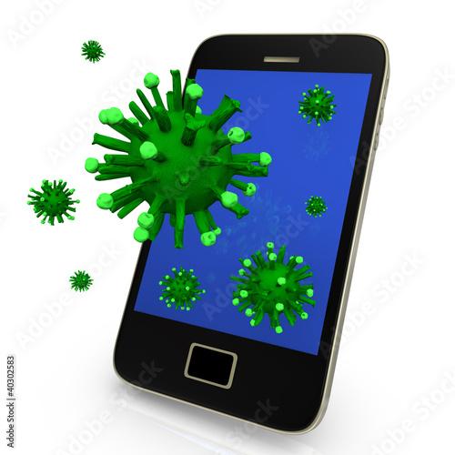 Virus On Smartphone