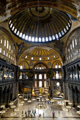 Interior view of Haghia Sophia