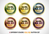 Colorful Risk Free Guaranteed Button Set