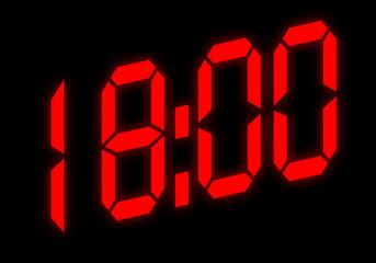 Digitalanzeige - 18:00