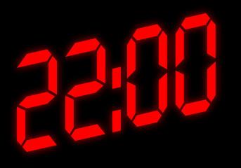 Digitalanzeige - 22:00