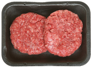 Pack of Raw Beef Burgers