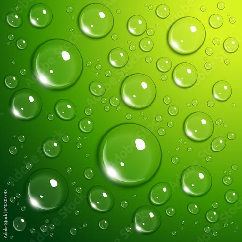 Fototapeta bąbelek - zielony - Woda/ Pochodne