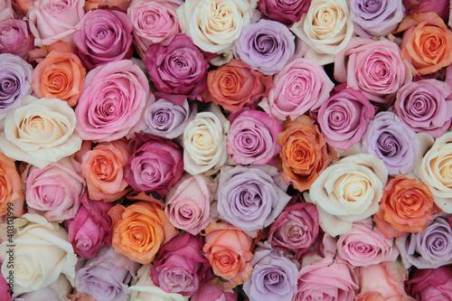 Fotobehang Lilac Pastel rose wedding flowers