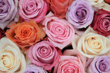 Fototapety Pastel rose wedding flowers