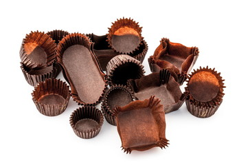 Chocolate Brown Mixed bakery cups