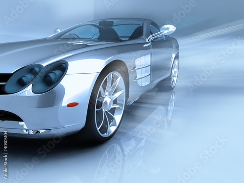 3D render of sports car