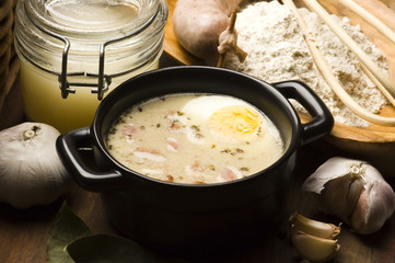 Sourdough, zur, zurek - component of a traditional Polish soup