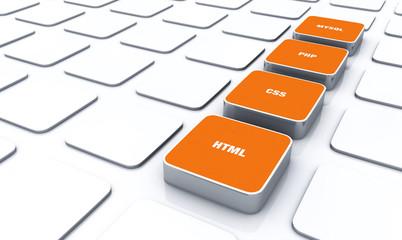 3D Pads Orange - HTML CSS PHP MYSQL 8