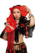 Portrait of gorgeous gypsy woman