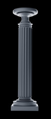 Classic Column isolated on black background