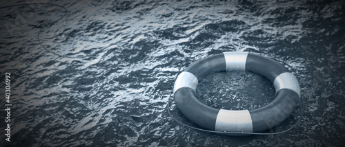 life buoy in the water High resolution