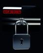 BLACK Folder with closed lock (Top secret)