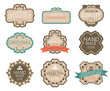 Vintage label Style with Nine Design Element , collection 11