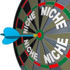 Niche Words on Dartboard Dart Hones on Specialized Demo