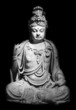 The statue of a sitting Buddha