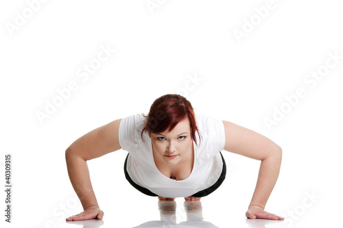 Young woman during fitness time and exercising