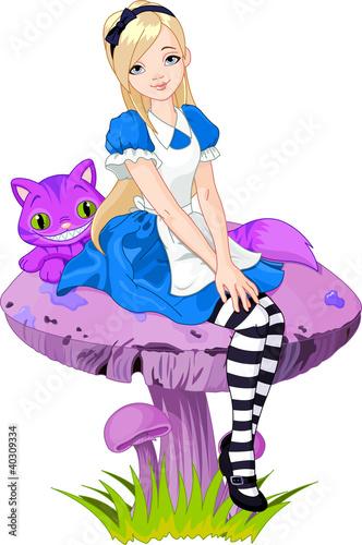 Aluminium Magische wereld Alice in Wonderland