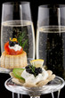 Black Caviar Canape and Champagne