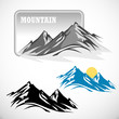 ABSTRACT HIGH MOUNTAIN  ICON SET