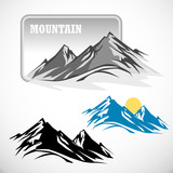 Fototapety ABSTRACT HIGH MOUNTAIN  ICON SET