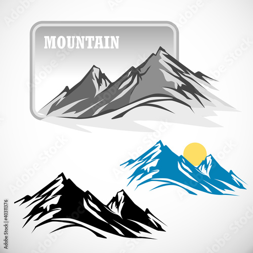 ABSTRACT HIGH MOUNTAIN ICON SET © NEILRAS