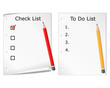 Checklist and todo list