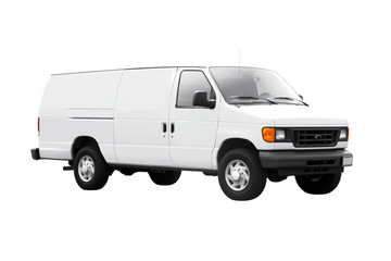 White Delivery Van on White