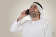 arabian businessman having a phone call- clipping path included