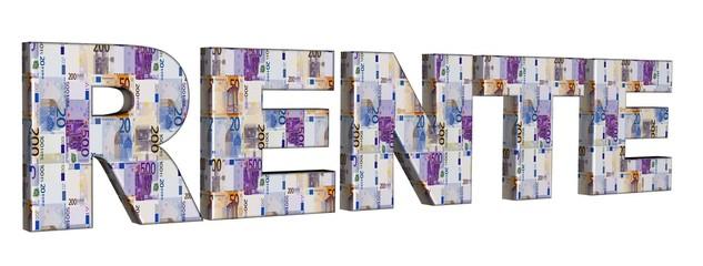 3D Geldschrift - RENTE