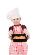 boy in chef's hat with baking
