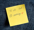A yellow sticky note