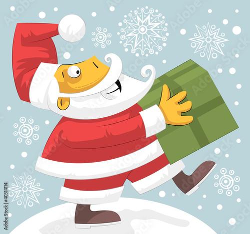 Santa Claus bringing present