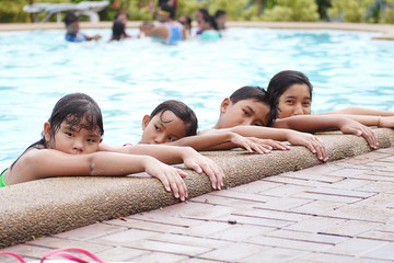 Children At The Pool Side