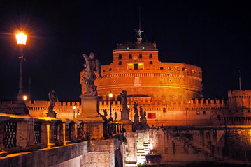 Rome, Castel Sant Angelo nigth view