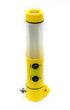 LED flashlight multifunction for auto - used isolated on the whi poster