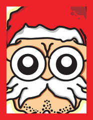 Santa head vector old cut