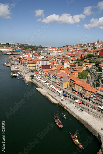 Old downtown area of the city of Porto, Portugal.