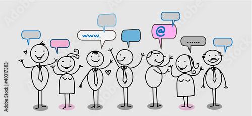 businessman people social network