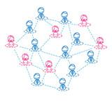 businessman & woman network