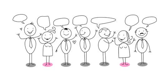 business community vector cartoon