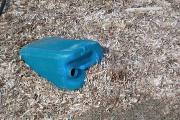 ornamento di plastica sulla spiaggia